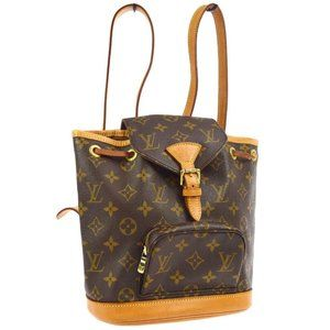Montsouris Pm Brown Monogram Canvas Backpack